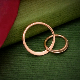 18K Rose Gold Plated Two Circles of Life Link 19x12mm