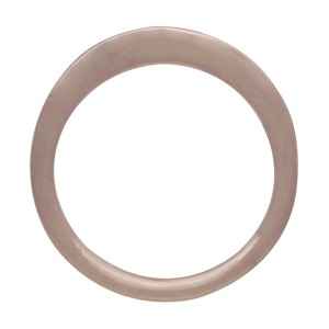 Rose Gold Small Open Circle Post Earring in Rose Gold Plate