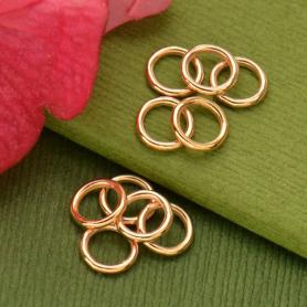 Rose Gold Jumpring - 7mm Soldered in 18K Rose Gold Plate