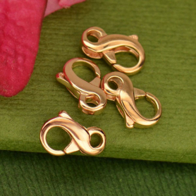 18K Rose Gold Plated Sterling Silver Infinity Clasp -9mm