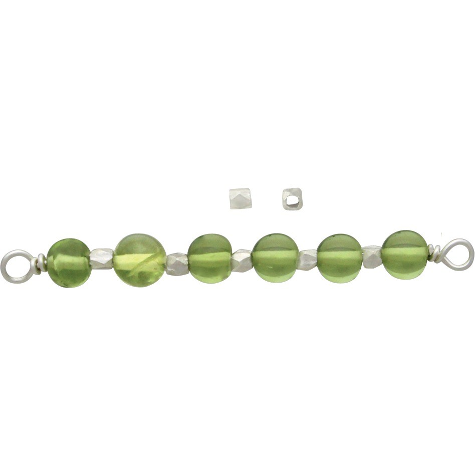Sterling Silver Spacer Beads - Small Faceted Bead 2mm