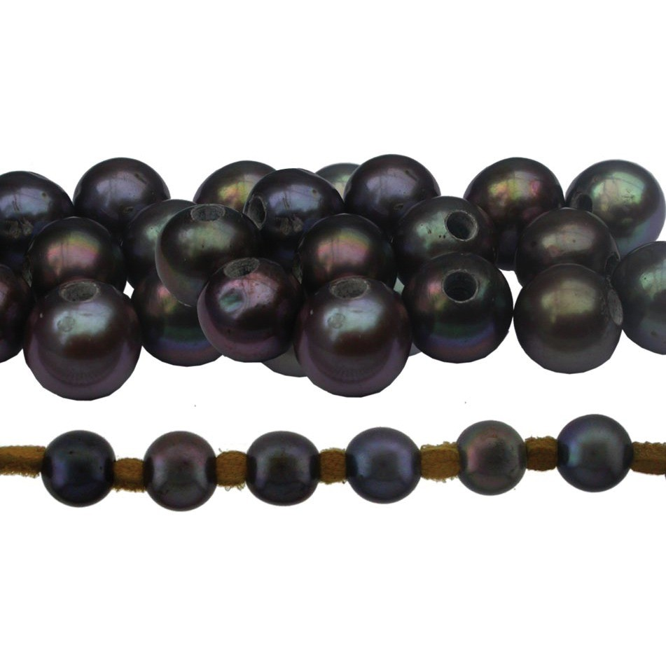 Large Hole Peacock Potato Pearl 8.5mm DISCONTINUED