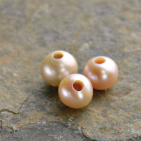 Pearl Beads -Large Hole Pink Potato Pearl 8.5mm DISCONTINUED