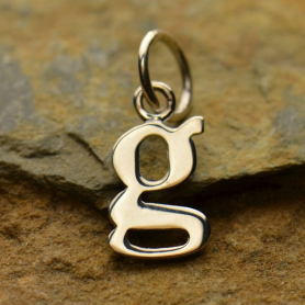 Sterling Silver Lowercase Typewriter Letter Charm G