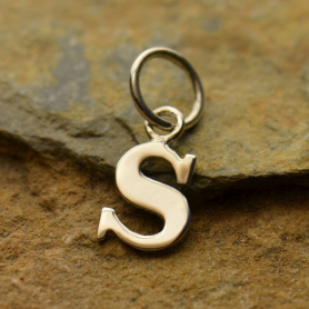 Sterling Silver Lowercase Typewriter Letter Charm S 16x6mm