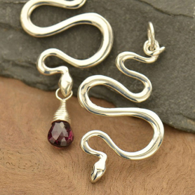 Sterling Silver Snake Pendant