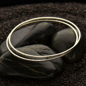 Sterling Silver Bangle Bracelet - Square Wire