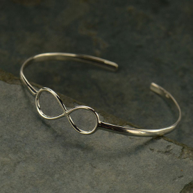 Silver Cuff Bracelet - Infinity Bracelet DISCONTINUED