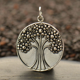 Sterling Silver Tree of Life Pendant with Granulation