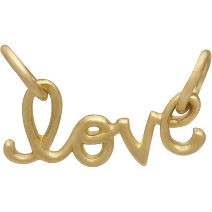 14K Gold Charm - Love Festoon in Solid Gold DISCONTINUED