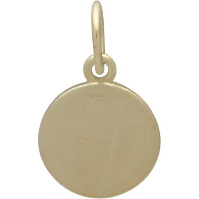 14K Solid Gold - Compass in Solid Gold 16x10mm