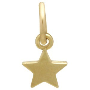 14K Solid Gold - Tiny Star in Solid Gold