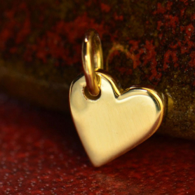 14K Gold Charms - Small Heart in Solid Gold