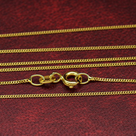 14K Solid Gold Delicate Chain - 18 inch