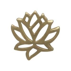 Solid 14K Gold - Small Lotus Charm no Jumpring