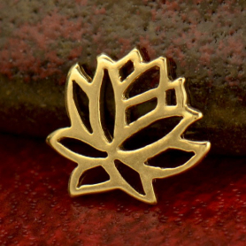 Solid 14K Gold - Small Lotus Charm no Jumpring