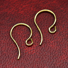14K Solid Gold Ear Wire