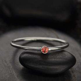 Sterling Silver Ring - Birthstone Ring - July