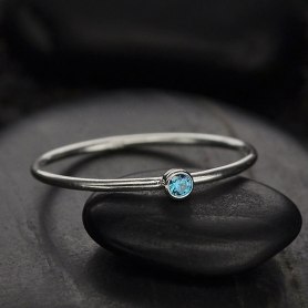 Sterling Silver Ring - Birthstone Ring - September