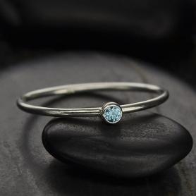 Sterling Silver Ring - Birthstone Ring - December
