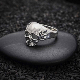 Sterling Silver Chunky Skull Ring