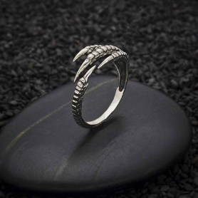 Sterling Silver Adjustable Bird Claw Ring