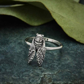 Sterling Silver Cicada Ring