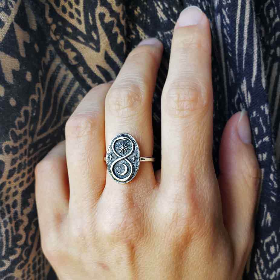 Sterling Silver Infinity Snake Ring