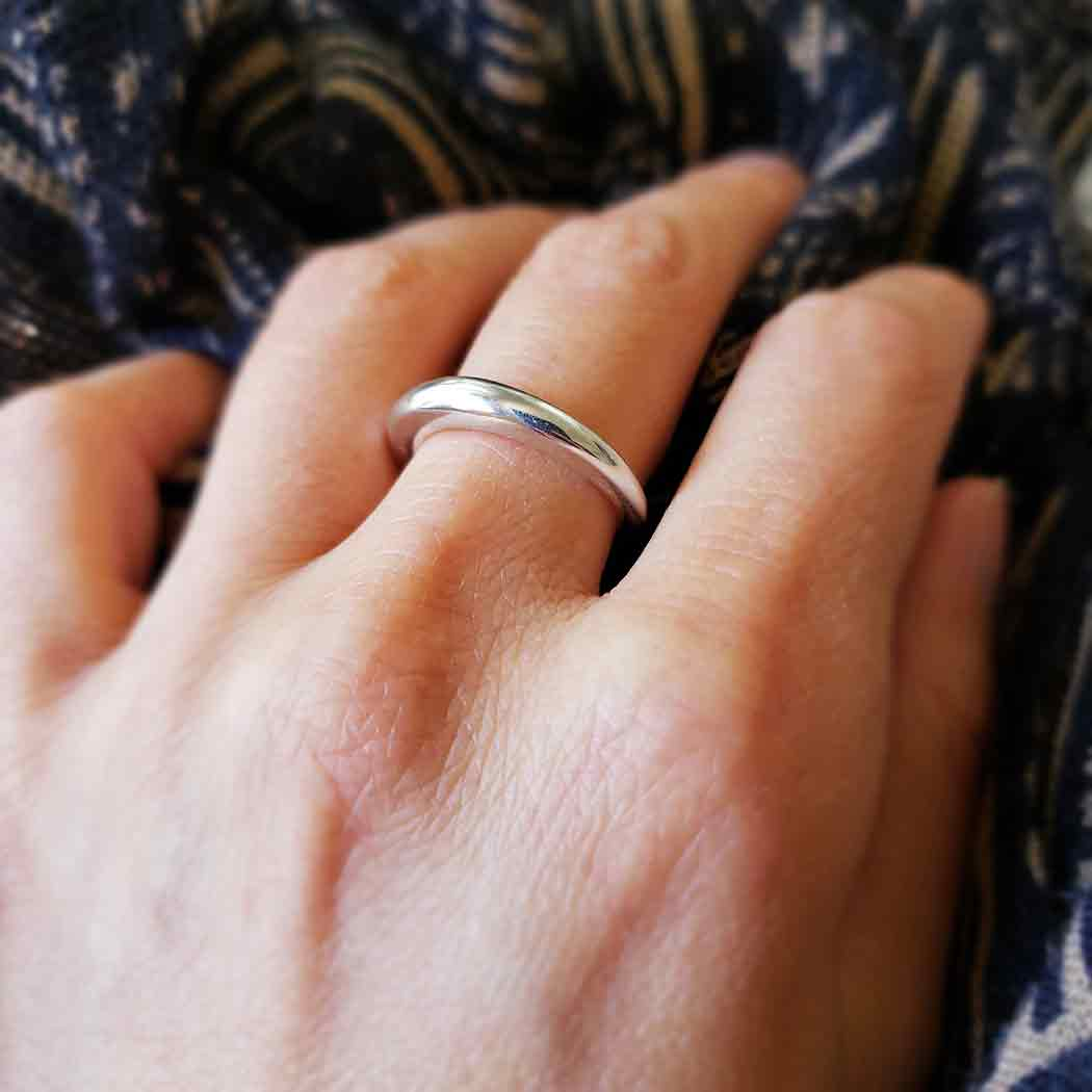 Sterling Silver Tapered Ring