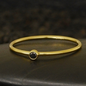 Gold Filled Ring - Birthstone Ring - Black