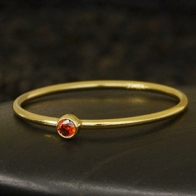 Gold Filled Ring - Birthstone Ring - January