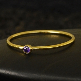 Gold Filled Ring - Birthstone Ring - February