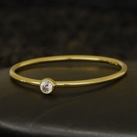Gold Filled Ring - Birthstone Ring - April