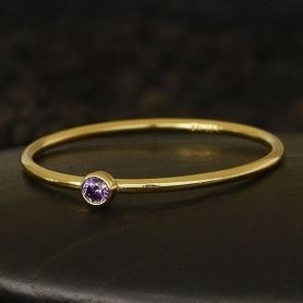 Gold Filled Ring - Birthstone Ring - June