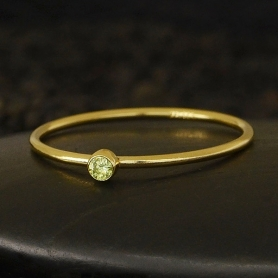 Gold Filled Ring - Birthstone Ring - August