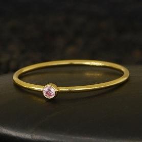 Gold Filled Ring - Birthstone Ring - October