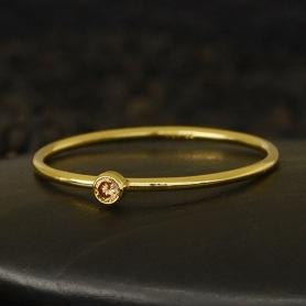 Gold Filled Ring - Birthstone Ring - November