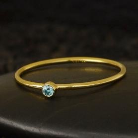 Gold Filled Ring - Birthstone Ring - December