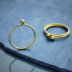 Gold Filled Stacking Ring with Ball