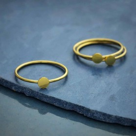 Gold Filled Stacking Ring with Circle