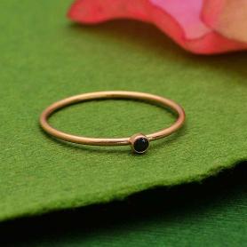 Rose Gold Filled Birthstone Ring - Black