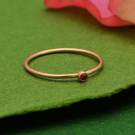 Rose Gold Filled Birthstone Ring - January