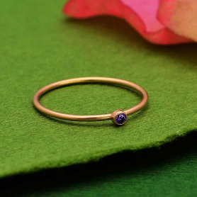 Rose Gold Filled Birthstone Ring - February