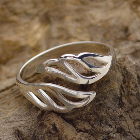 Sterling Silver Adjustable Ring - Wing Ring
