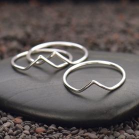 Sterling Silver Ring - Chevron Ring
