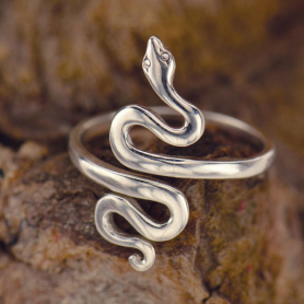 Sterling Silver Adjustable Ring - Snake Ring