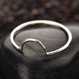 Sterling Silver Ring - Half Circle Ring