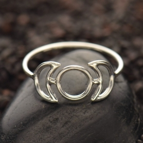 Sterling Silver Ring - Phase of the Moon Ring