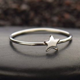 Sterling Silver Ring - Tiny Star Ring