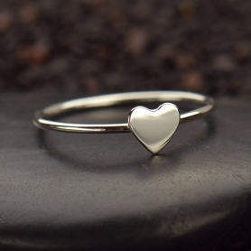 Sterling Silver Ring - Tiny Heart Ring